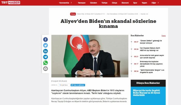 Turkish media hails support of brotherly Azerbaijan