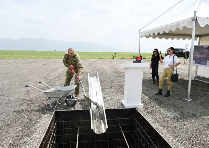 Prezident Zəngilanda hava limanının təməlini qoydu