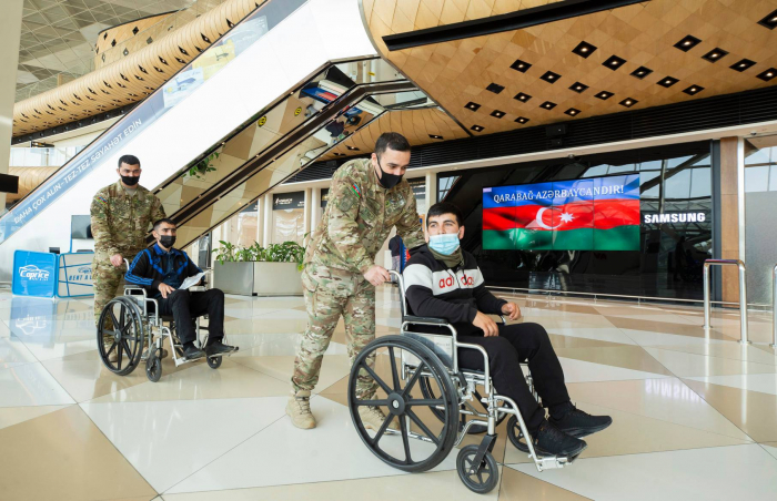 Azerbaijan sends 13 more war veterans to Turkey for treatment - PHOTOS