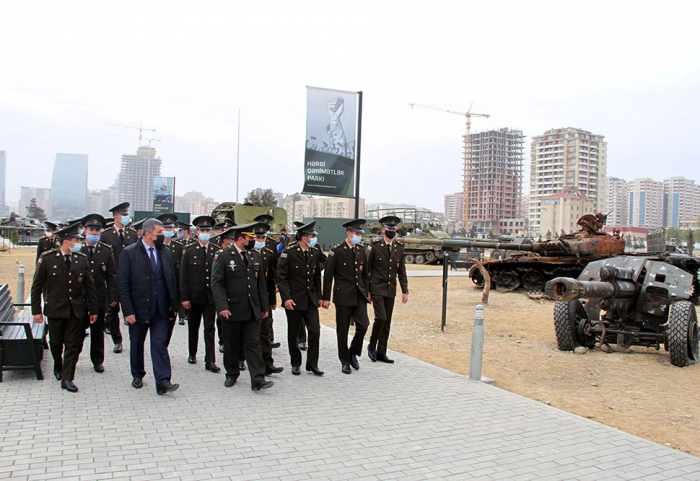 Cadets of Azerbaijani Military Academy visit Military Trophy Park -   VIDEO