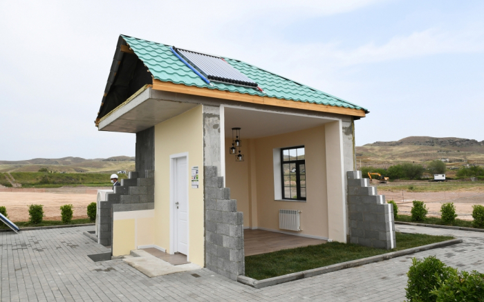 "Video presentation   of ""Smart village"" to be established in liberated Azerbaijani lands"