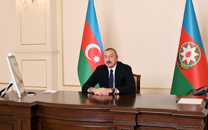 President Aliyev met with WEF president in video conference format - UPDATED