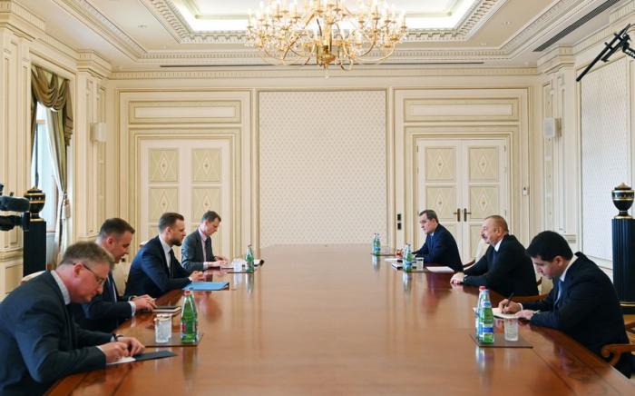 President Ilham Aliyev receives Lithuanian FM