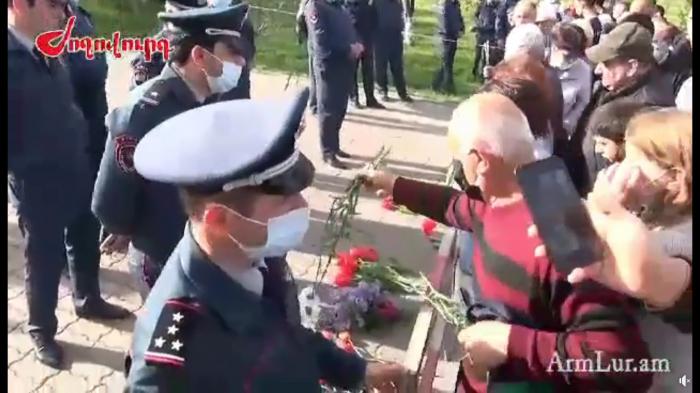 """Ermənistanda """"soyqırımı abidəsi""""ndə biabırçı vəziyyət -  VİDEO"""