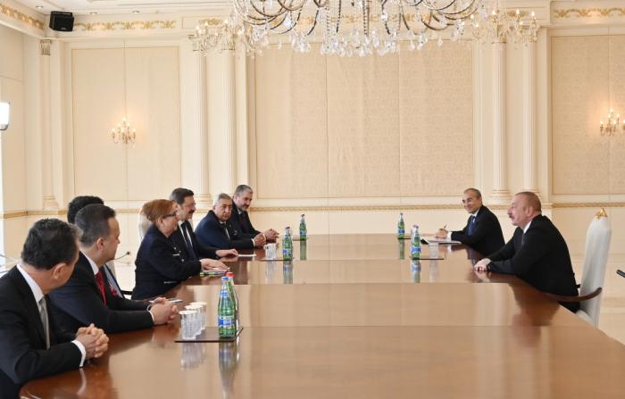 Azerbaijani president receives Turkish trade minister - UPDATED