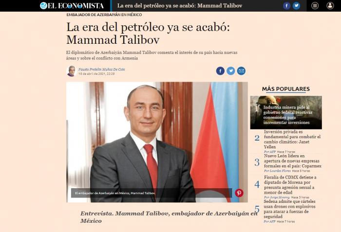 Mexican media highlights Armenia