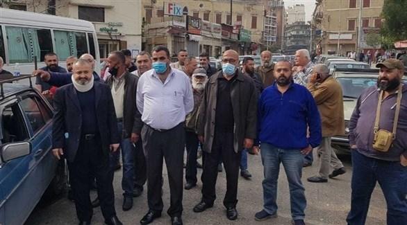 إضراب نقابات النقل البري في لبنان احتجاجا على الأوضاع الاقتصادية