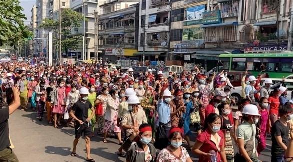 معارضو الانقلاب في ميانمار يشكلون حكومة وحدة وطنية