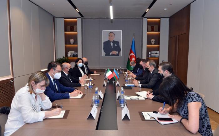 الوزير يلتقي رئيس لجنة مجلس الشيوخ الإيطالي