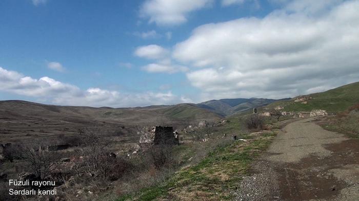 Füzulinin Sərdarlı kəndinin görüntüləri -