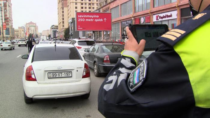 Parklanma qaydalarını pozanlara qarşı reyd keçirildi -    VİDEO