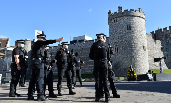 Preparations at Windsor Castle for Prince Philip funeral -   NO COMMENT