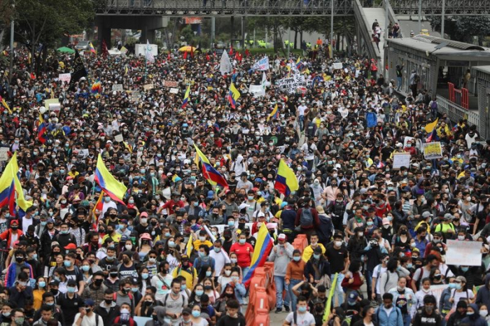 Thousands of Colombians rally to protest tax proposals