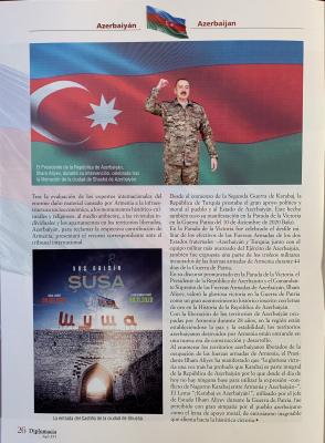"""La revista española Diplomacia Siglo XXI ha publicado un artículo titulado """"Presidente de la República de Azerbaiyán Ilham Aliyev: """"¡Karabaj es Azerbaiyán!"""""""""""