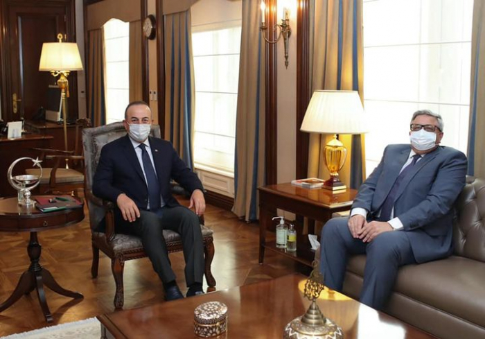 Çavuşoğlu Rusiya səfiri ilə görüşdü