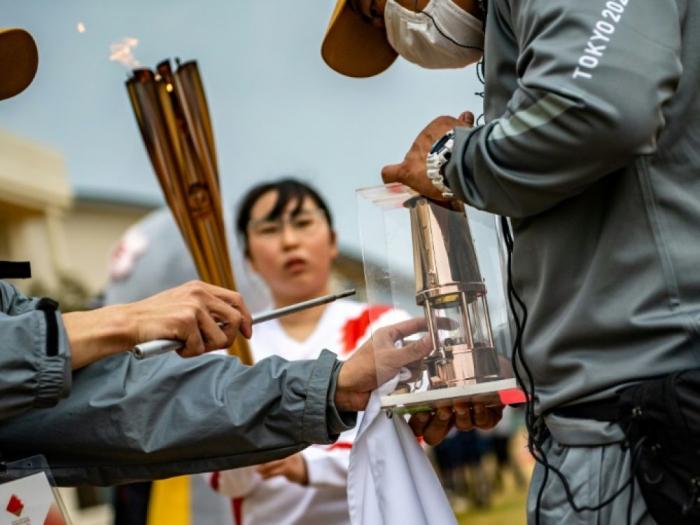 JO de Tokyo:le relais de la flamme olympique à huis clos à Okinawa