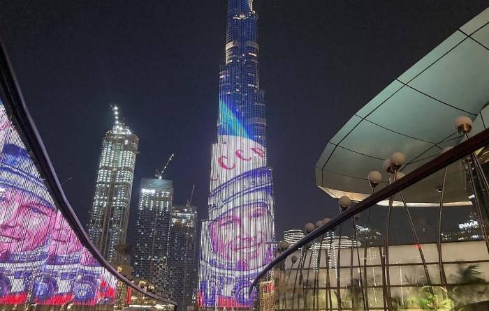 Yuri Gagarin image lights up Dubai's Burj Khalifa