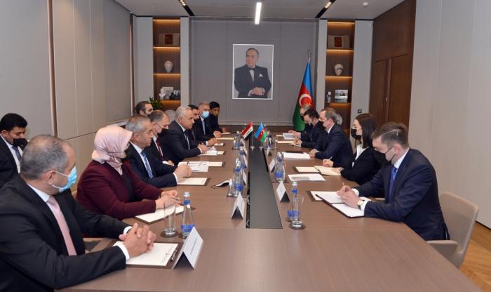 El ministro de Asuntos Exteriores azerbaiyano recibe a la delegación parlamentaria iraquí