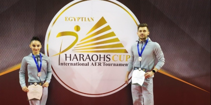 El equipo de gimnasia de Azerbaiyán consigue la plata en Egipto