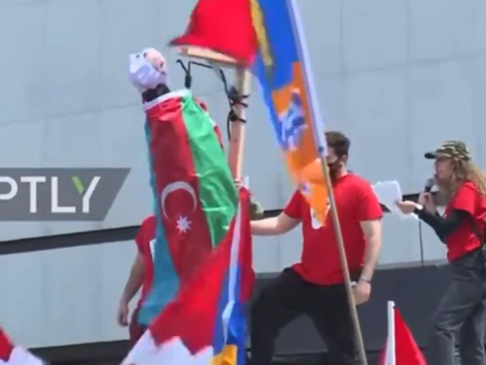 Armenian lobby holds action in LA calling for ethnic violence against Azerbaijanis