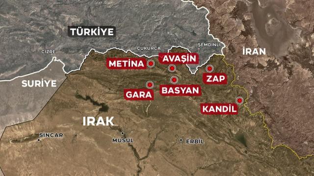 Türkiyə İraqın şimalında antiterror əməliyyatına başladı