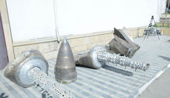 """Remains of """"Iskander-M"""" missile in Military Trophy Park"""