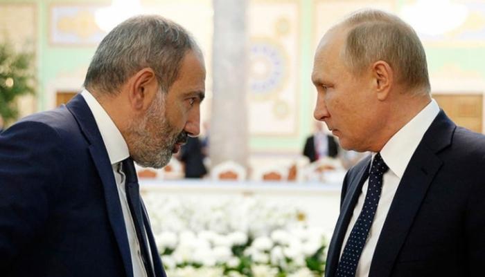 Putinlə Paşinyanın görüşü başladı