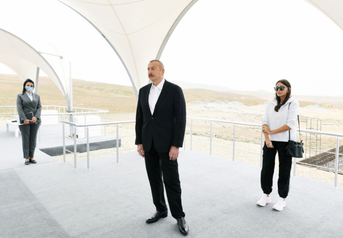 Azerbaijani president and first lady attend groundbreaking ceremony for Mud Volcanoes Tourism Complex - PHOTOS