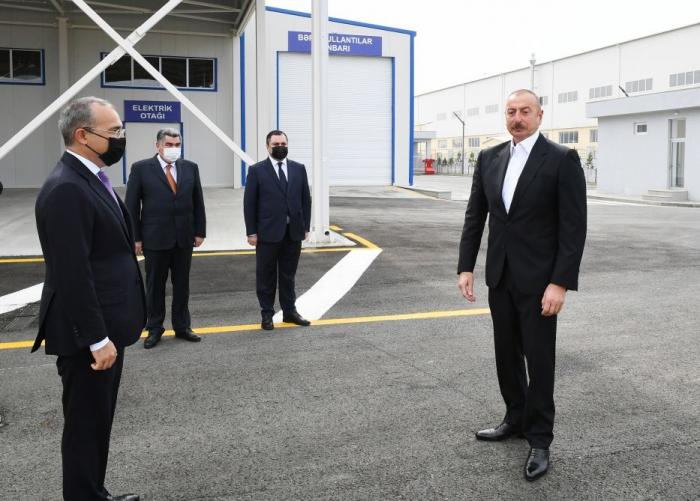 Industrial parks will also operate in Karabakh zone, President Aliyev says