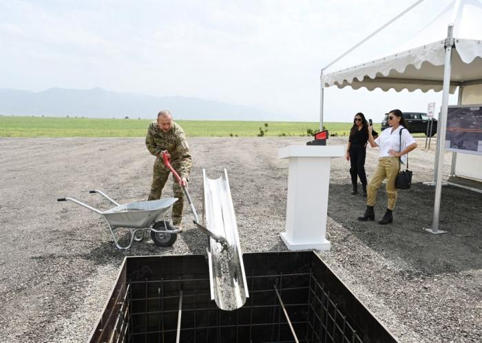 Azerbaijani president laid foundation of int'l airport in Zangilan