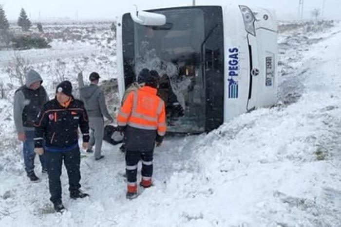 Rusiyalı turistlər Türkiyədə qəzaya düşdü:  1 ölü, 26 yaralı