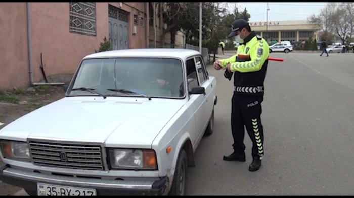 Yol polisi Qərb rayonlarında reyd keçirdi