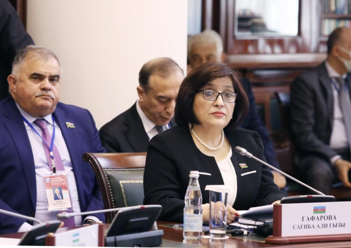 رئيسة البرلمان تلقي كلمة في اجتماع الجمعية البرلمانية لرابطة الدول المستقلة