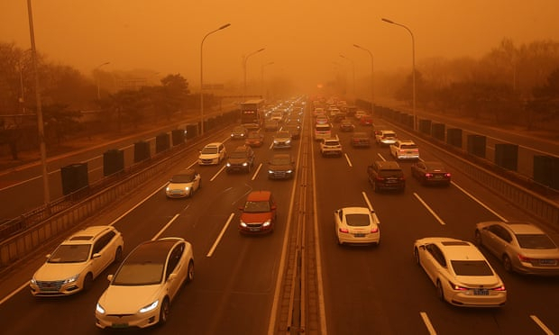 China sandstorms highlight threat of climate crisis