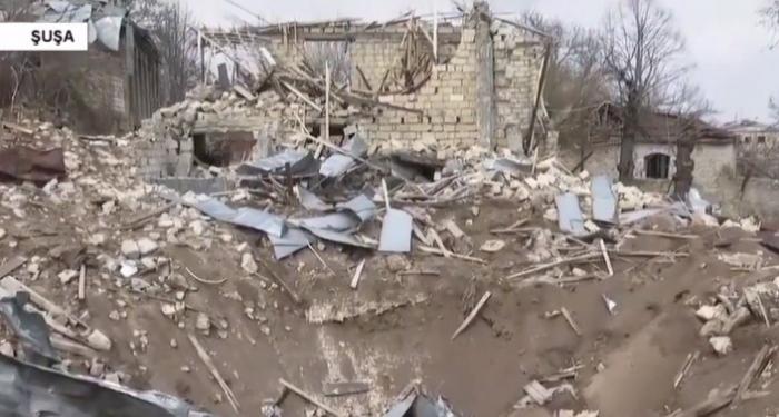 """لقطات من المكان الذي سقط فيه """"إسكندر"""" في شوشا -  فيديو"""