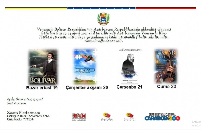 Bakıda Venesuela film festivalı başlayır