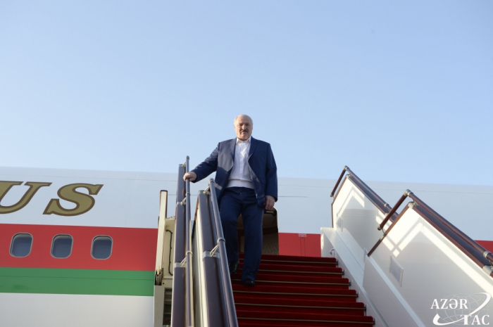 Lukaşenko Azərbaycana gəldi -  FOTO