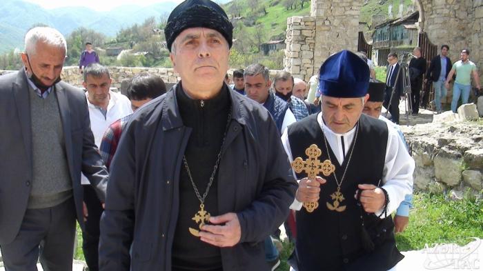 Tuğdakı Alban məbədini əsl sahibləri ziyarət edib -    FOTOLAR