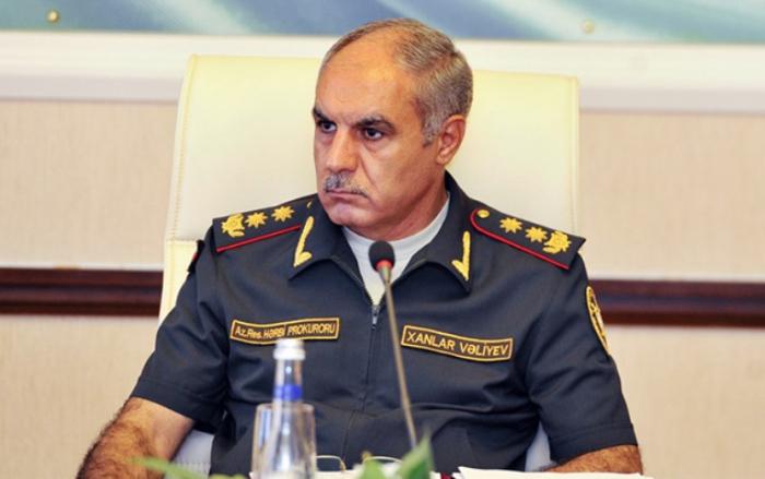 """Xanlar Vəliyev:    """"Ötən il hərbi cinayətlər 36,1 faiz azalıb"""""""