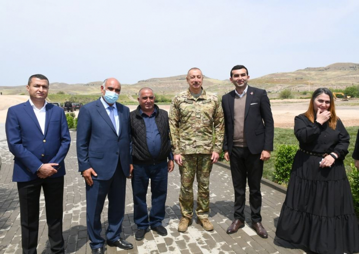 Azerbaijani president meets with residents of Zangilan district -   PHOTOS