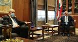 صور اجتماع رئيس البرلمان اللبناني مع وزير الخارجية الفرنسي
