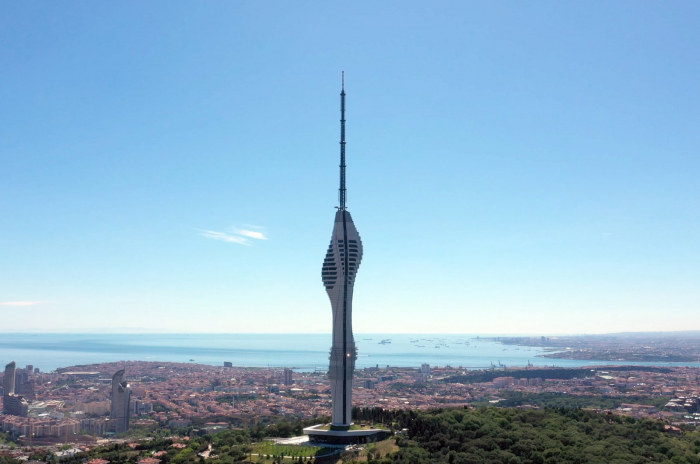 Massive TV tower, now Istanbul