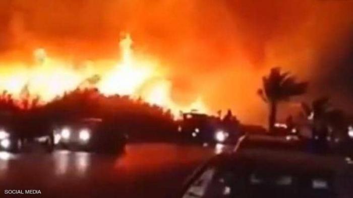 حريق هائل بالقرب من المفاعل النووي الإيراني في بوشهر