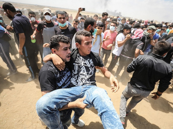 Qəzza bombalandı:    20 ölü, 65 yaralı var
