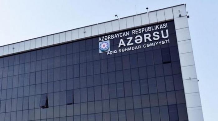 """""""Azərsu"""" bayramda gücləndirilmiş rejimdə işləyəcək"""