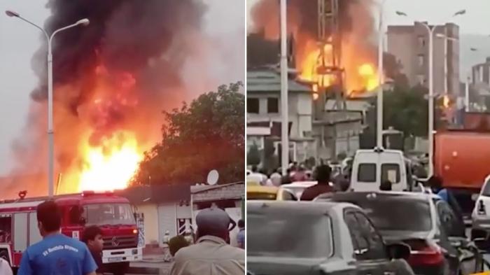 Düşənbədə güclü partlayış:  29 nəfər yaralandı - VİDEO