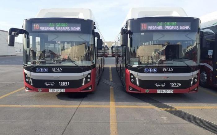 Bakıda yeni avtobuslar istifadəyə verilir
