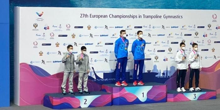 Gimnastlarımız Avropa çempionatında 3 medal qazandı