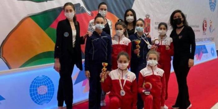 Bədii gimnastlarımız Polşada 3 medal qazandılar
