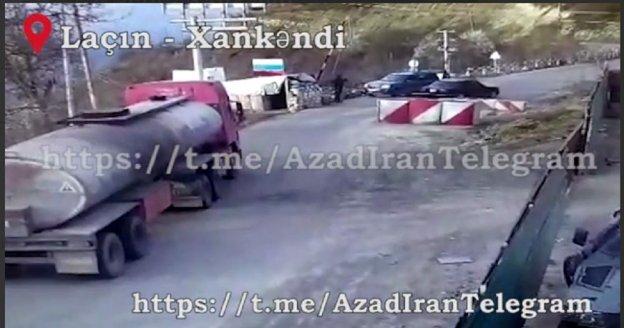 VIDEO:  Los pacificadores rusos dejan entrar el cargamento que Irán envía a los armenios de Karabaj